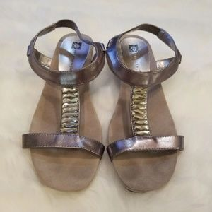 Anne Klein Pewter Sandals